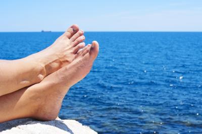 relaxing near the ocean