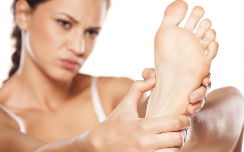 woman with chronic heel pain